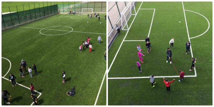 6 yard summer camp kids football field
