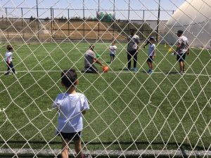 Football at 6 Yard Summer camp