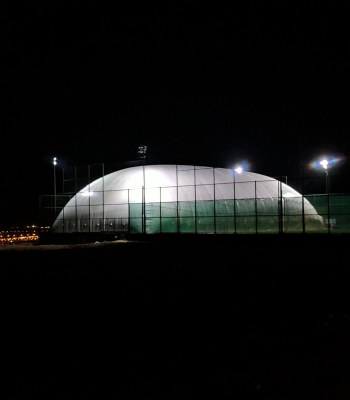 indoor football field amman night