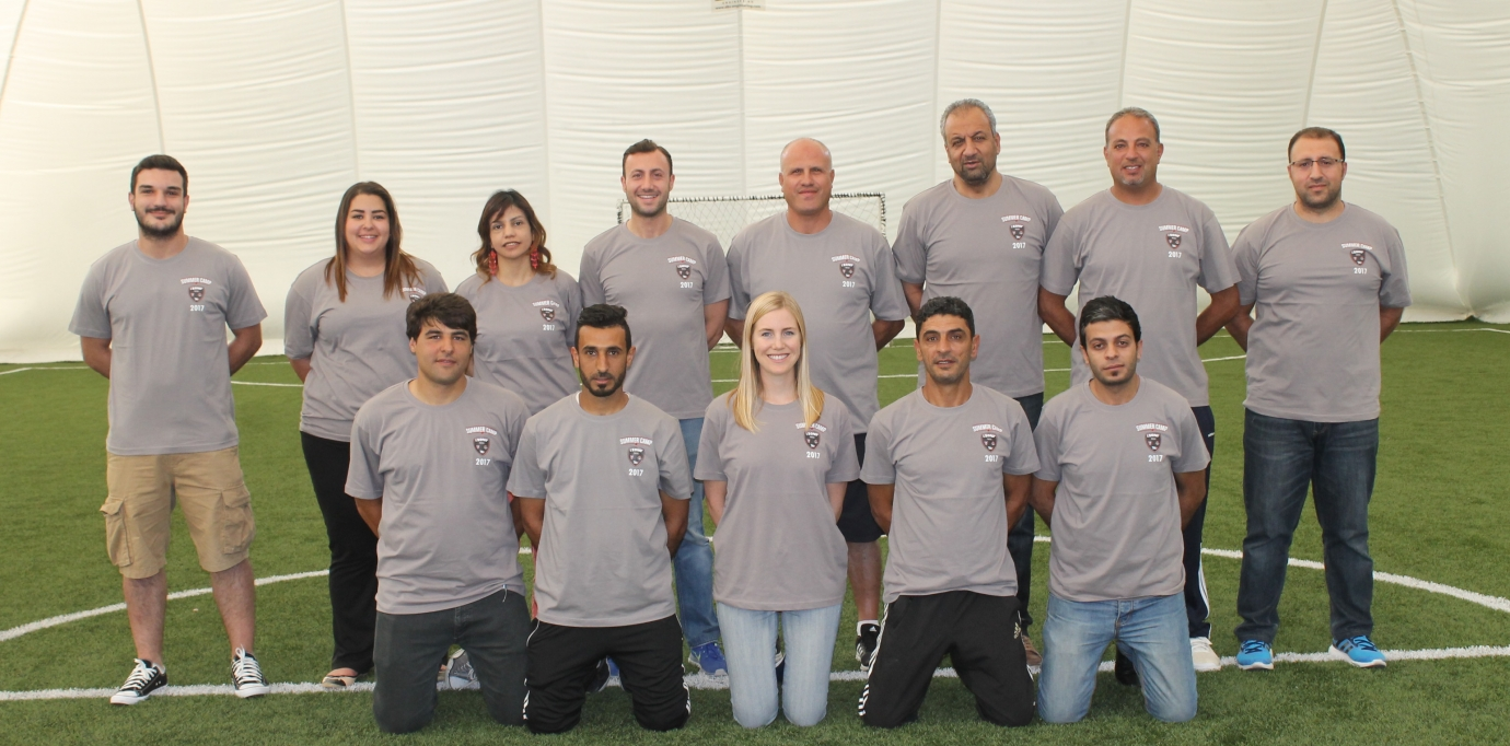 summer camp at the zone team